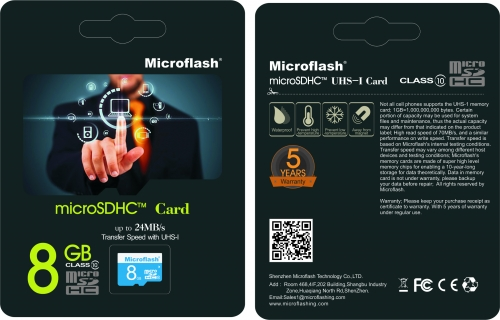 MICRO SD CARD RETAIL PACKAGE